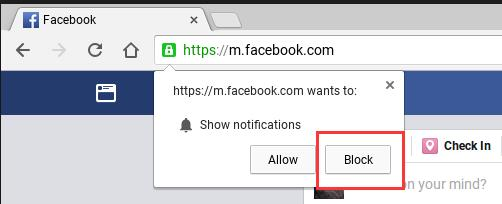 block to show notifications