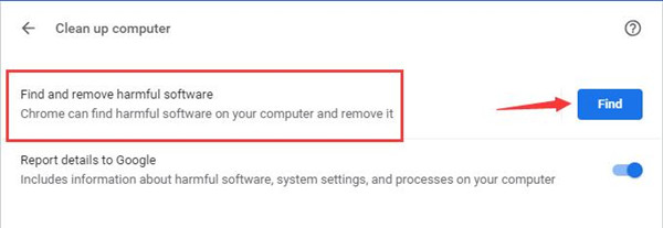 find and remove harmful software