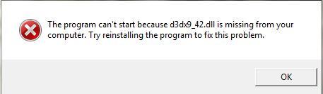 Fixed: D3dx9_42 dll Missing on Windows 10 - Windows 10 Skills